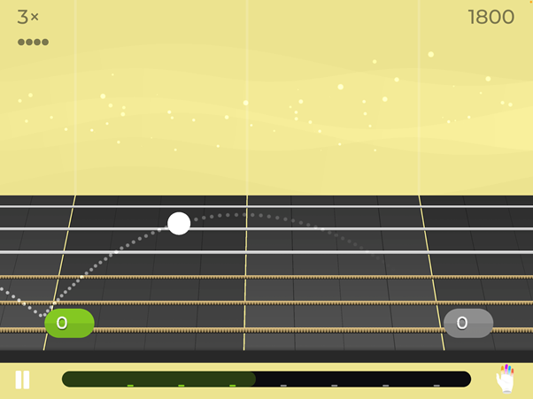 Screenshot of practice mode on Yousician.